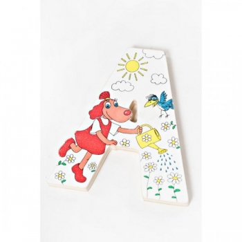 Lotte Wooden Letter - A (White)
