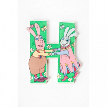Lotte Wooden Letter - H (Green)