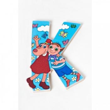 Lotte Wooden Letter - K (Blue)