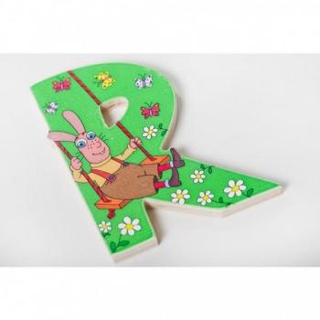 Lotte Wooden Letter - R (Green)