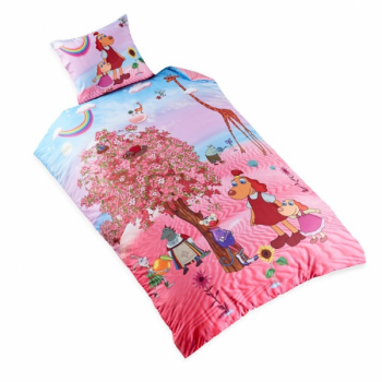 "Single Bedsheet ""Lotte and the Cherry Blossom Tree"" 150x210cm"