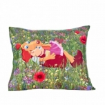 """Pillow Cover """"Lotte and Roosi at the Countryside"""" 50x60cm"""